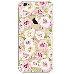 Недорогие Кейсы для iPhone 7 Plus-Кейс для Назначение Apple iPhone X / iPhone 8 Ультратонкий / Прозрачный / С узором Кейс на заднюю панель Цветы Мягкий ТПУ для iPhone X / iPhone 8 Pluss / iPhone 8