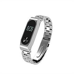 お買い得  腕時計ベルト-xiaomi miバンド用金属リストストラップ2ネジレスステンレススチールリストバンドスマートブレスレットアクセサリーfor miband 2 plus