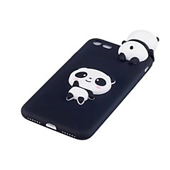 billige Etuier til iPhone 7-Etui Til Apple iPhone X Stødsikker Bagcover 3D-tegneseriefigur Panda Blødt TPU for iPhone X iPhone 8 Plus iPhone 8 iPhone 7 Plus iPhone 7