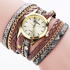 voordelige -Dames Modieus horloge Armbandhorloge Gesimuleerd Diamant Horloge Chinees Kwarts imitatie Diamond PU Band Amulet Informeel Elegant Zwart