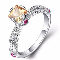 女性用 婚約指輪 セクシー ファッション 純銀製 ジルコン 円形 ジュエリー 用途 パーティー