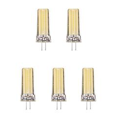 5pcs 4W G4 LED-lampor med G-sockel 1 lysdioder COB Varmvit Kallvit 1lm 3500/6500K AC 220-240V