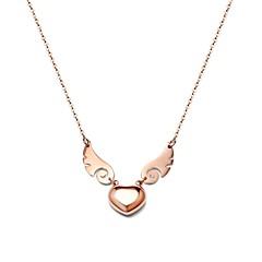 Жен. Ожерелья с подвесками В форме сердца Геометрической формы Золотистый Нержавеющая сталь Rock Костюм Бижутерия Назначение Для