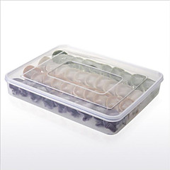 Food Fresh Box dumplings tray Preservation Storage box Holder refrigerator crisper sealed box dumplings box