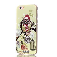 halpa iPhone 4s / 4 kotelot-Etui Käyttötarkoitus Apple iPhone X iPhone 8 iPhone 8 Plus Ultraohut Kuvio Takakuori Puu Pöllö Pehmeä TPU varten iPhone X iPhone 8 Plus