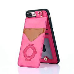 Недорогие Кейсы для iPhone-Кейс для Назначение Apple iPhone X / iPhone 8 Бумажник для карт / со стендом / С узором Кейс на заднюю панель Кружева Печать Твердый Настоящая кожа для iPhone X / iPhone 8 Pluss / iPhone 8