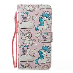 Кейс для Назначение Huawei Кошелек Бумажник для карт со стендом Флип С узором Магнитный Чехол единорогом Твердый Искусственная кожа для