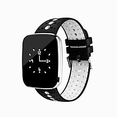 0.96 tommer oled smart armbånd vandtæt lang standby kalorier brændt skridttællere hjertefrekvens skærm til iOS android mobiltelefon