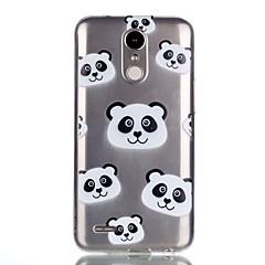 Funda Para LG Diseños Cubierta Trasera Caricatura Oso Panda Suave TPU para LG K10 (2017) LG K8 (2017)