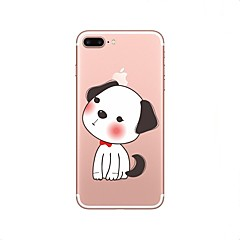 Недорогие Кейсы для iPhone 6-Кейс для Назначение Apple iPhone X iPhone 8 Прозрачный С узором Кейс на заднюю панель С собакой Мягкий ТПУ для iPhone X iPhone 8 Pluss
