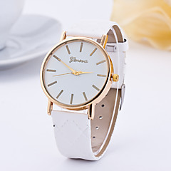 preiswerte Tolle Angebote auf Uhren-Damen Quartz Armbanduhr Armbanduhren für den Alltag Leder Band Charme Modisch Schwarz Weiß Rot Braun Grün