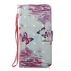 для футляра держатель карты кошелек с подставкой флип магнитный рисунок полный корпус кейс бабочка твердая кожа pu для яблока iphone x