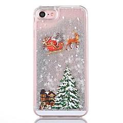 Kılıf Na iPhone 8 iPhone 8 Plus Z płynem Etui na tył Połysk Święta Bożego Narodzenia Twarde PC na iPhone 8 Plus iPhone 8 iPhone 7 Plus