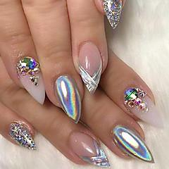 0.15g loistava sateenkaari kynsilakka holografinen jauhe kaltevuus laser manikyyri kauneus pigmentti nail art diy nail salon pöly glitter