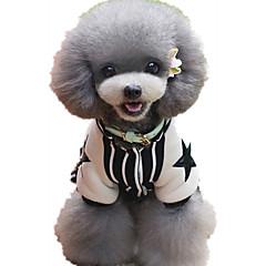 お買い得  犬用ウェア&アクセサリー-犬 ジャンプスーツ 犬用ウェア 縞柄 ブラック / ダークブルー / レッド コットン コスチューム ペット用 カジュアル/普段着