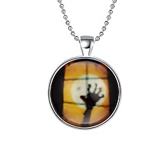 Жен. Ожерелья с подвесками Ожерелья-цепочки Круглой формы Серебрянное покрытие Сплав Хип-хоп С подсветкой Бижутерия Назначение Halloween