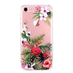 Недорогие Кейсы для iPhone 7 Plus-Кейс для Назначение Apple iPhone X iPhone 8 iPhone 8 Plus Ультратонкий Прозрачный С узором Кейс на заднюю панель Цветы Мягкий ТПУ для