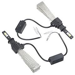Недорогие Автомобильные фары-2pcs H4 / H1 Автомобиль Лампы Интегрированный LED 4000 lm Налобный фонарь Назначение
