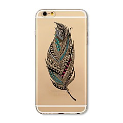 voordelige iPhone 7 hoesjes-hoesje Voor iPhone X iPhone 8 Transparant Patroon Achterkantje Veren Zacht TPU voor iPhone X iPhone 7s Plus iPhone 8 iPhone 7 Plus iPhone