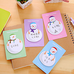 1 pc notes de self-stick de bonhomme de neige