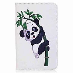 panda a bambusový vzor karty držitel peněženku se stojanem flip magnetic kožené pouzdro pro samsung galaxy záložku 7.0 t280 t285 7.0