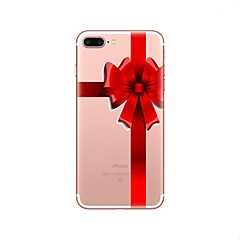 Недорогие Кейсы для iPhone X-Кейс для Назначение Apple iPhone X iPhone 8 Ультратонкий Полупрозрачный Кейс на заднюю панель Рождество Мягкий ТПУ для iPhone X iPhone 8