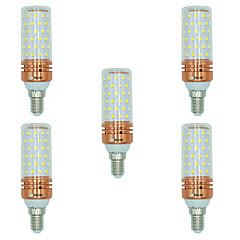 お買い得  LED 電球-BRELONG® 5個 16W 1300lm E14 LEDコーン型電球 T 84 LEDビーズ SMD 2835 温白色 ホワイト デュアル光源色 220-240V