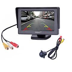 Недорогие Автоэлектроника-ziqiao® 2 in1 tft 4,3-дюймовый автомобильный монитор tc lcd с подсветкой для заднего вида с подсветкой камеры заднего вида ccd для ночного видения с автомобильными мониторами