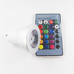 abordables Bombillas LED-300 lm GU10 Focos LED MR16 1 leds LED de Alta Potencia Regulable Decorativa Control Remoto RGB AC 100-240V