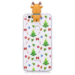 tanie Etui / Pokrowce do Huawei-Kılıf Na Huawei P9 Huawei P9 Lite Huawei P8 Lite (2017) P10 Lite Wzór DIY Czarne etui Święta Bożego Narodzenia Kreskówka 3D Miękkie TPU na