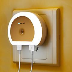 preiswerte Ausgefallene LED-Beleuchtung-BRELONG® 1pc Steckdose Nachtlicht Weiß Nacht Mit USB-Anschluss