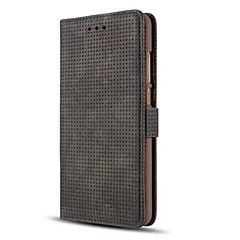 Кейс для Назначение Huawei Кошелек Бумажник для карт со стендом Флип Чехол Сплошной цвет Твердый Искусственная кожа для Huawei Mate 9