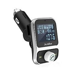 Недорогие Bluetooth гарнитуры для авто-двойной usb автомобильный комплект bluetooth mp3-плеер зарядное устройство hands-free звонок беспроводной FM-передатчик модулятор с