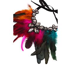 preiswerte Halsketten-Damen Anhängerketten - Feder Erklärung, damas, überdimensional Braun, Rose Rot, Rot Modische Halsketten Schmuck Für Party, Bühne
