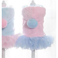Gato Perro Vestidos Ropa para Perro Fiesta Casual/Diario Mantiene abrigado Halloween Navidad Princesa Azul Rosa