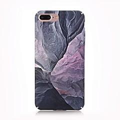 Недорогие Кейсы для iPhone 7-Кейс для Назначение Apple iPhone X iPhone 8 Матовое С узором Кейс на заднюю панель Мрамор Твердый ПК для iPhone X iPhone 8 Pluss iPhone 8