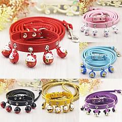 voordelige Hondenhalsbanden, tuigjes & riemen-Kat Hond Kraag Lijnen Bel Cartoon Geel Fuchsia Rood Roze