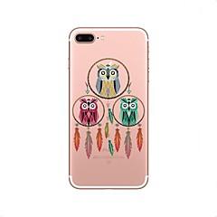 Недорогие Кейсы для iPhone 6-Кейс для Назначение iPhone X iPhone 8 Прозрачный С узором Задняя крышка Сова Ловец снов Мягкий TPU для iPhone X iPhone 8 Plus iPhone 8