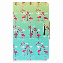 preiswerte Tablet-Hüllen-Hülle Für Samsung Galaxy Ganzkörper-Gehäuse / Tablet-Hüllen Flamingo Hart PU-Leder für Tab A 10.1 (2016)