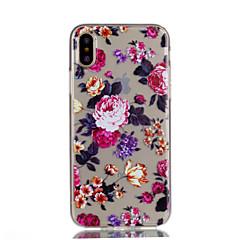 для крышки случая прозрачный тип задняя крышка случая цветок мягкий tpu для яблока iphone x iphone 8 плюс iphone 8 iphone 7 плюс iphone 7