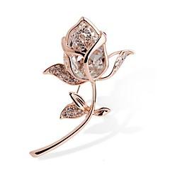 Χαμηλού Κόστους Καρφίτσες-Γυναικεία Καρφίτσες Κρυστάλλινο Συνθετικό Diamond Στρας Κράμα Square Shape Κοσμήματα Για Γαμήλια Τελετή