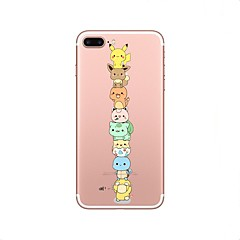 hoesje Voor iPhone X iPhone 8 Transparant Patroon Achterkantje Cartoon Zacht TPU voor iPhone X iPhone 7s Plus iPhone 8 iPhone 7 Plus
