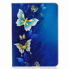 sommerfugl mønster kortholder pung med stativ flip magnetisk pu læder taske til Samsung Galaxy Tab s3 wifi / lte t820 t825 9,7 tommer