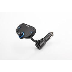 Waza inalámbrico manos libres bluetooth 4.2 kit de coche fm transmisor reproductor de mp3 con doble carga rápida 3.0 / 2.4a usb