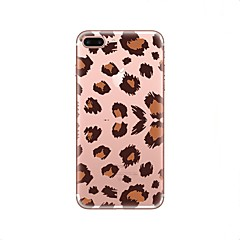 Etui Til iPhone X iPhone 8 Transparent Mønster Bagcover Leopardtryk Blødt TPU for iPhone X iPhone 8 Plus iPhone 8 iPhone 7 Plus iPhone 7