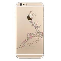tanie Etui do iPhone 6-Kılıf Na Apple iPhone X iPhone 8 iPhone 8 Plus Przezroczyste Wzór Czarne etui Święta Bożego Narodzenia Miękkie TPU na iPhone X iPhone 8