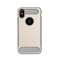 для крышки случая противоударная задняя крышка случая сплошной цвет твердый силикон для яблока iphone x iphone 8 плюс iphone 8 iphone 7