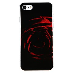 Кейс для Назначение Apple iPhone 7 iPhone 7 Plus Защита от удара IMD Задняя крышка Сияние и блеск Цветы Твердый PC для iPhone 7 Plus