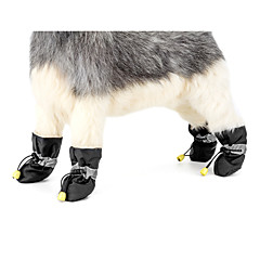 Dog Anti-Slip Sole Boots Snow Boots Dog Clothes Casual/Daily Keep Warm New Year's Solid Black Gray Red Blue Pink Costume For Pets