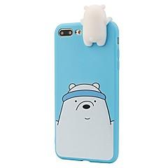 Кейс для Назначение iPhone 8 iPhone 8 Plus С узором Задняя крышка Мультипликация 3D в мультяшном стиле Мягкий Силикон для iPhone 8 Plus